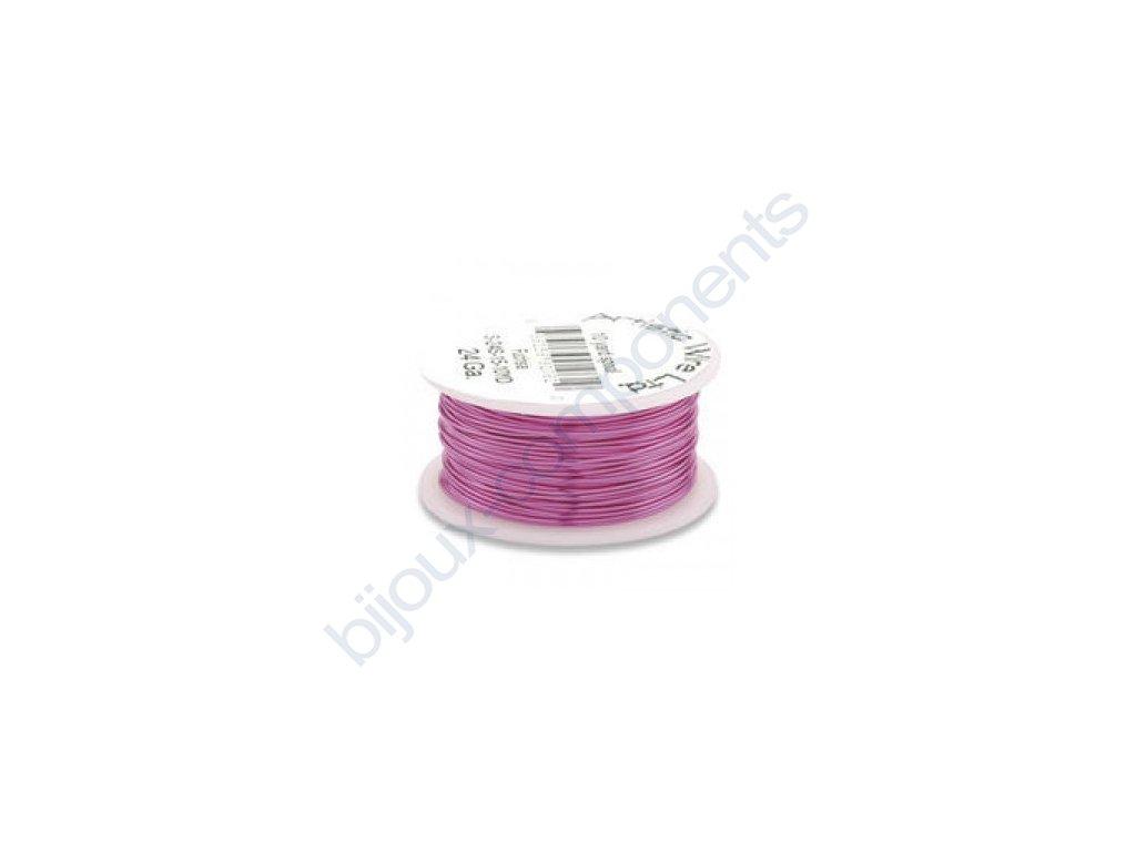 Umělecký barevný drát - fuchsiový