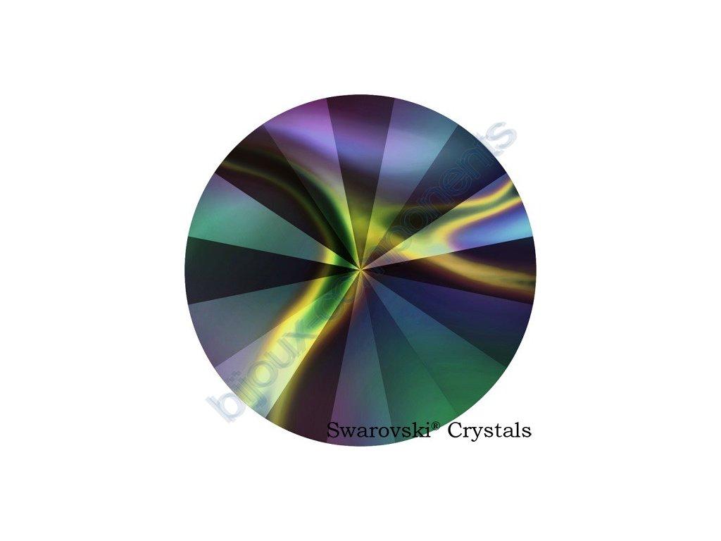 SWAROVSKI CRYSTALS Rivoli - crystal rainbow dark F, SS47 (cca 10mm)