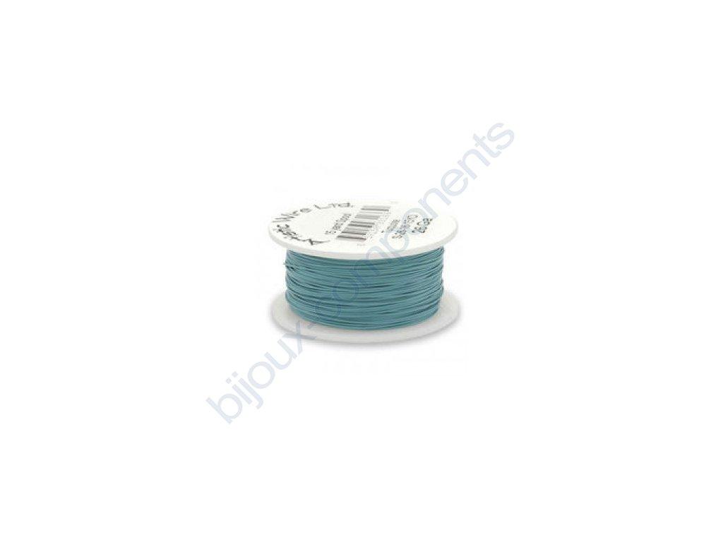 Umělecký barevný drát - tyrkysový