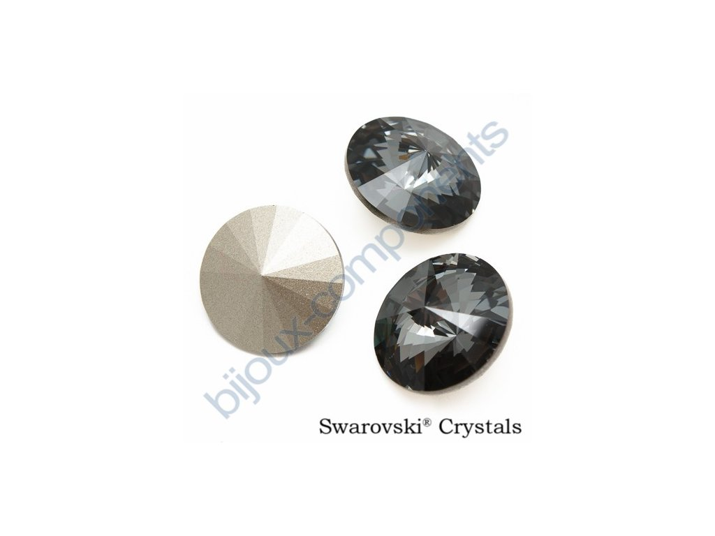 SWAROVSKI ELEMENTS kameny - Rivoli Chaton, crystal silvernight F, SS47 (cca 10mm)