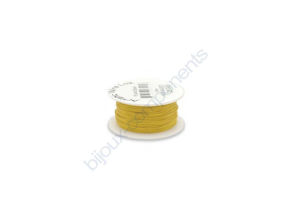 Umělecký barevný drát - žlutý