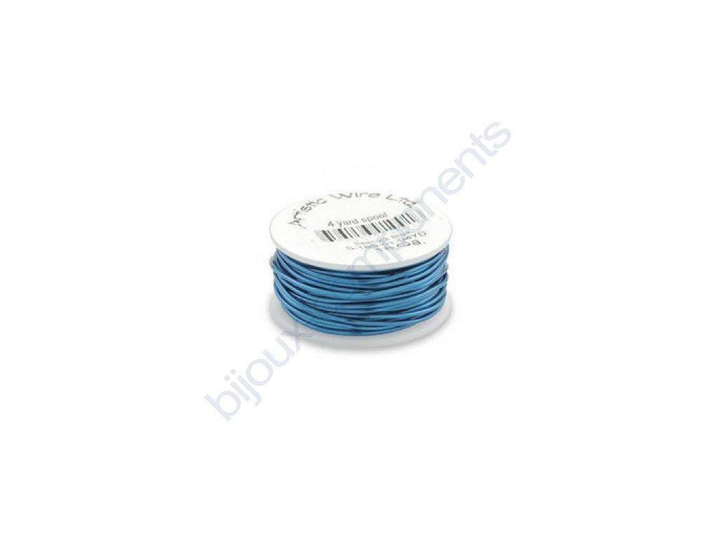 Umělecký barevný drát - paví modř