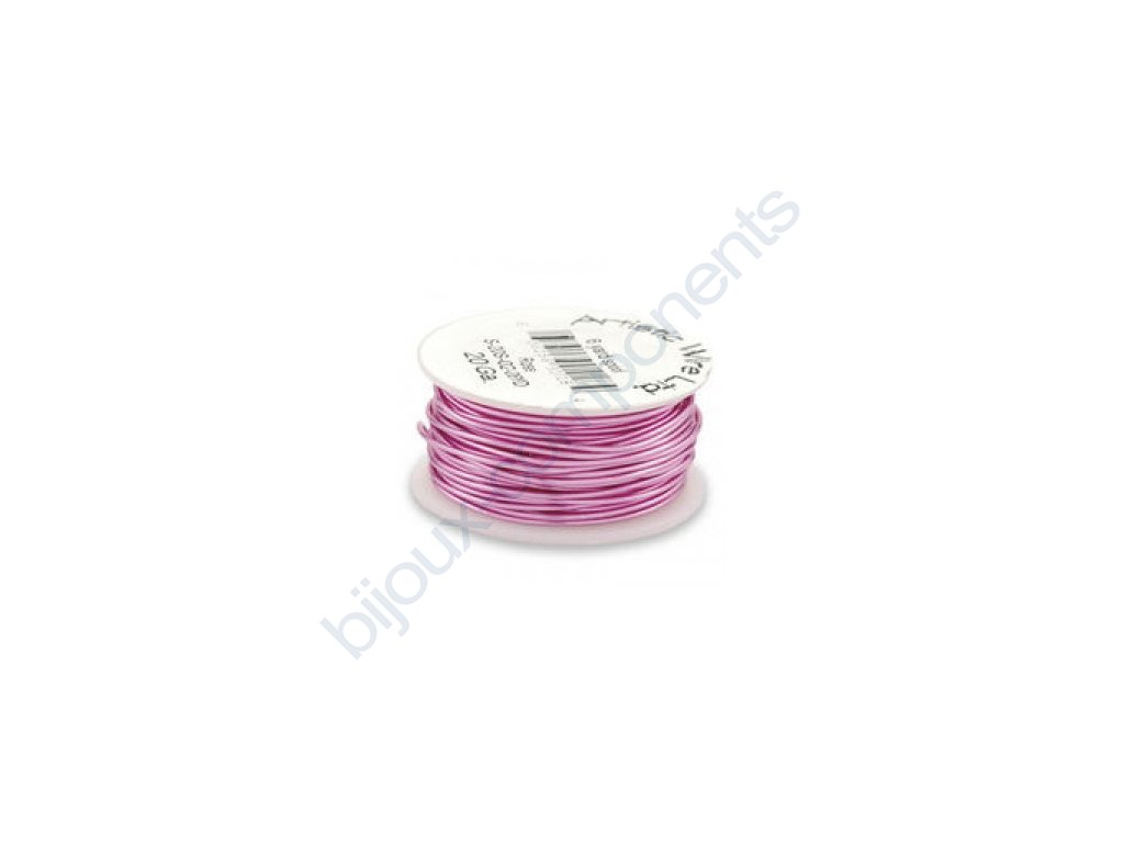 Umělecký barevný drát - růžový