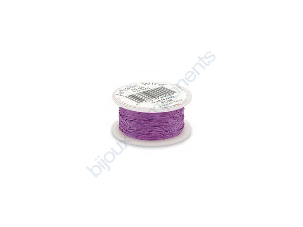 Umělecký barevný drát - švestkový