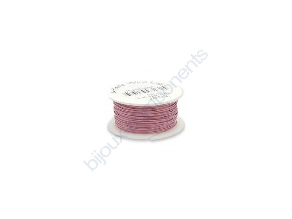 Umělecký barevný drát - pastelově růžový