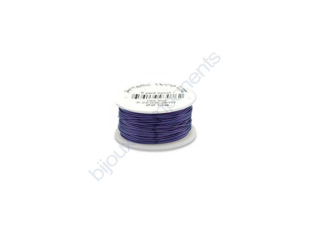 Umělecký barevný drát - tmavě modrý