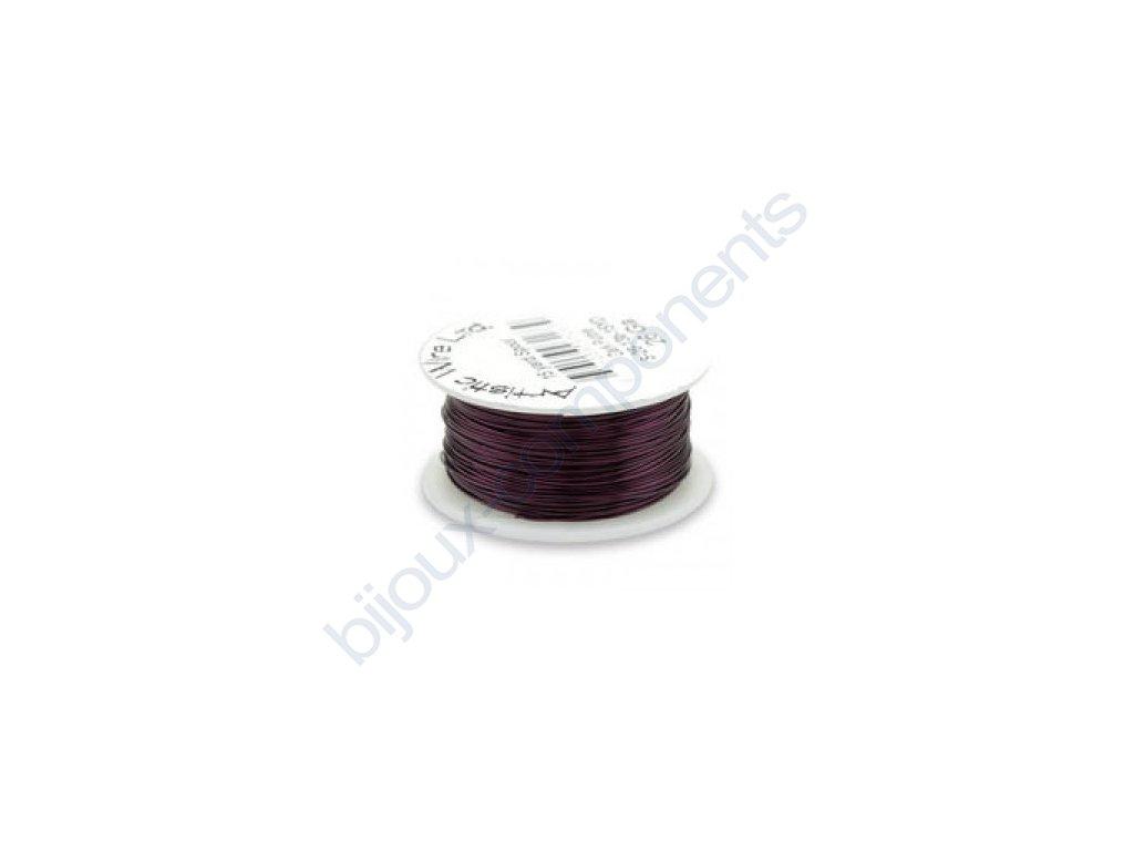 Umělecký barevný drát - tmavě fialový