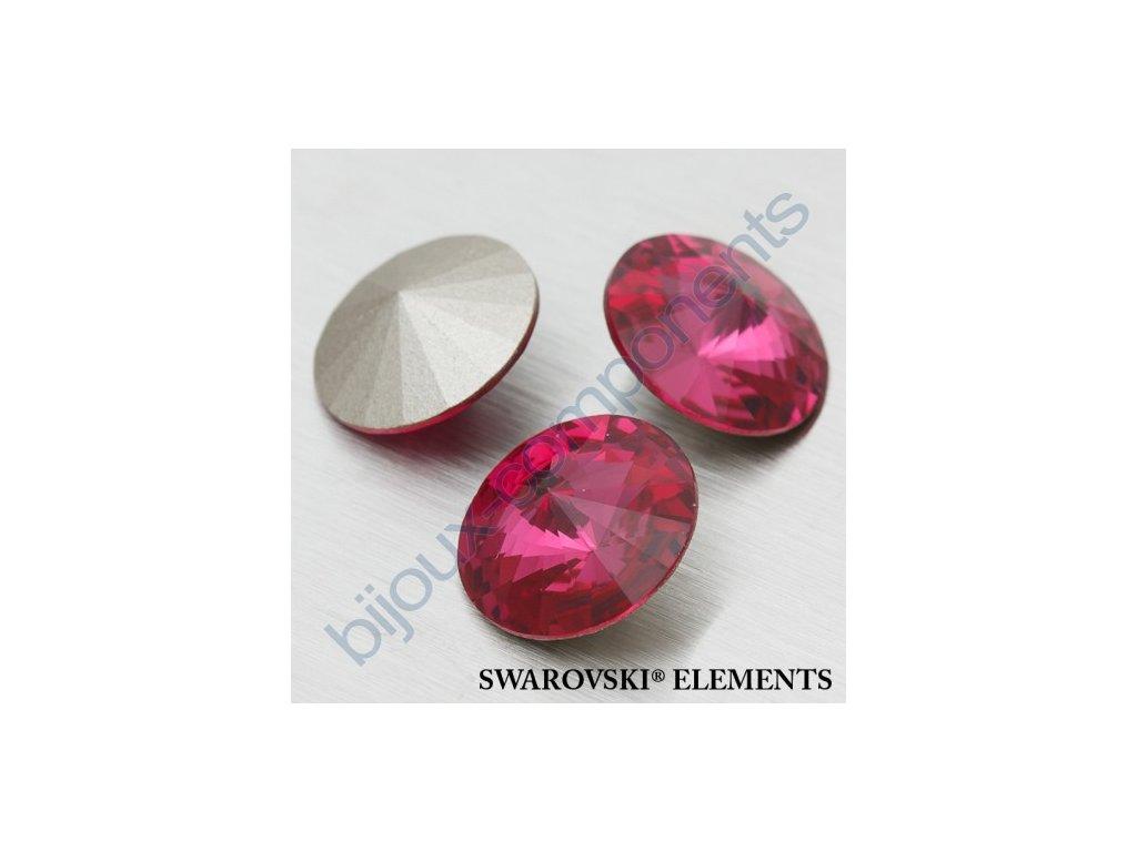 SWAROVSKI ELEMENTS kameny - Rivoli Chaton, fuchsia F, SS47 (cca 10mm)