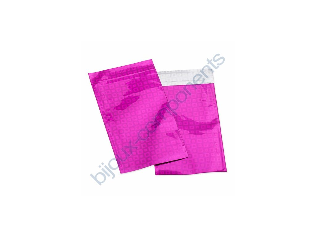 Sáček celofánový - růžový, samolepící, cca 75x120mm + 20mm lepící plocha