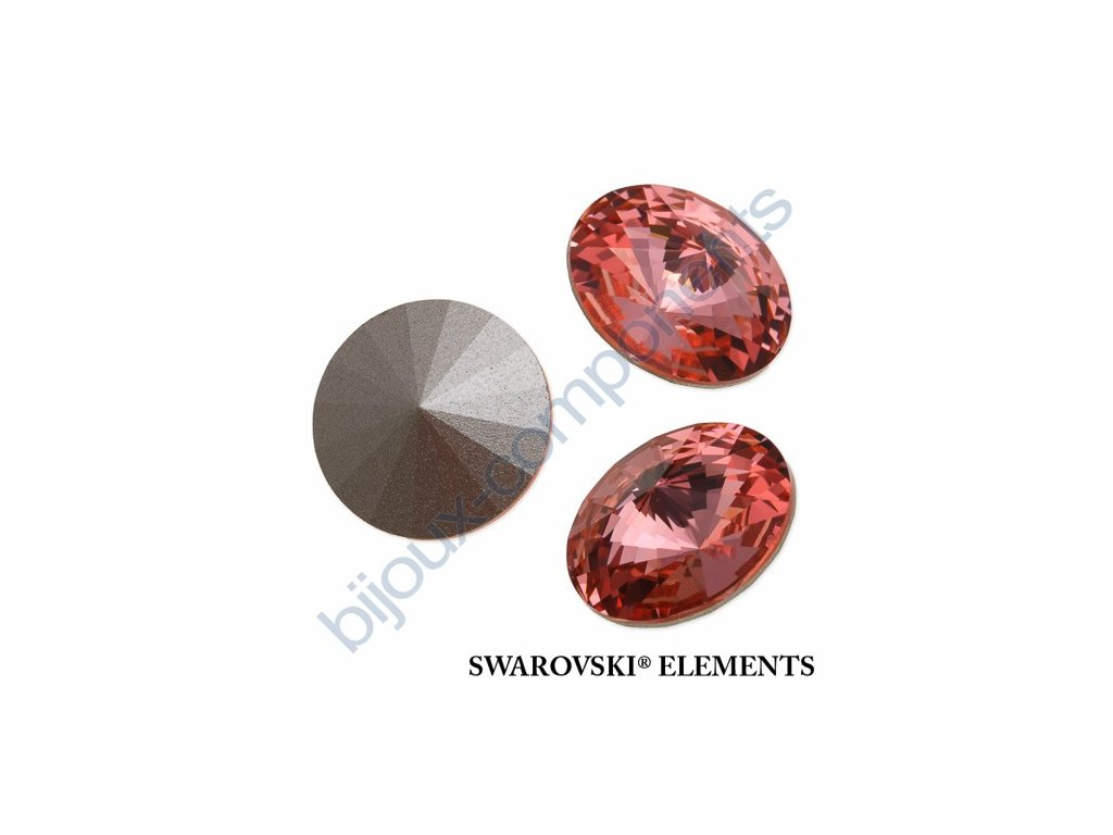 SWAROVSKI ELEMENTS kameny - Rivoli Chaton, rose peach F, SS47 (cca 10mm)