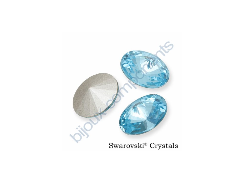 SWAROVSKI ELEMENTS kameny - Rivoli Chaton, aquamarine F, SS29 (cca 6mm)