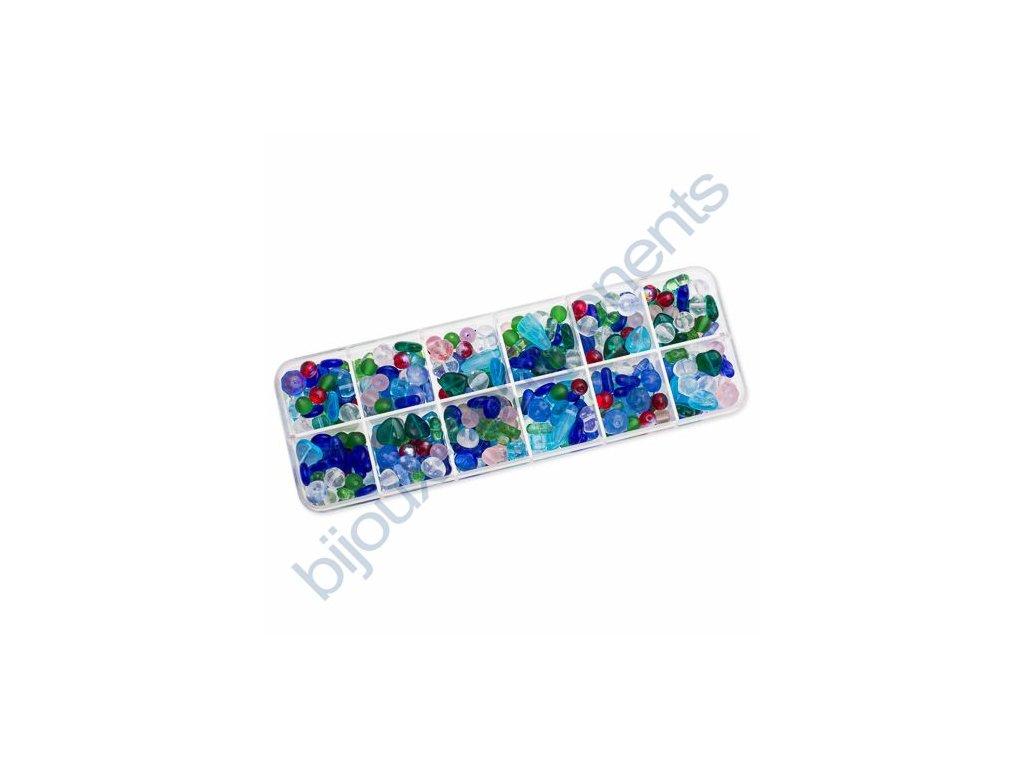 Dárkový set s korálky - mix barev, cca 170g