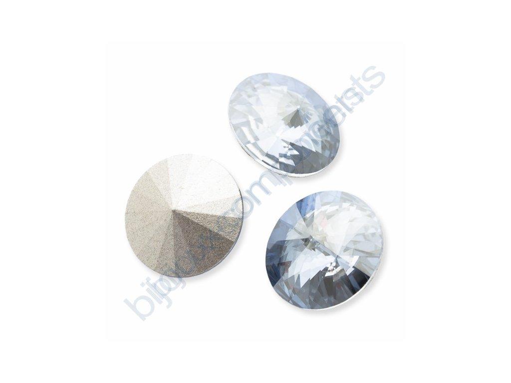 SWAROVSKI ELEMENTS kameny - Rivoli Chaton, crystal blue shade F, SS39 (cca 8mm)