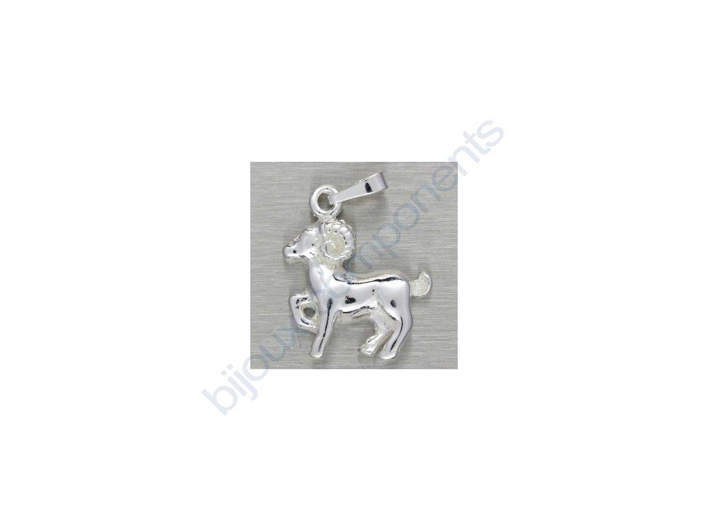 Přívěsek - beran, cca 19x15mm, 1ks = cca 1,83g