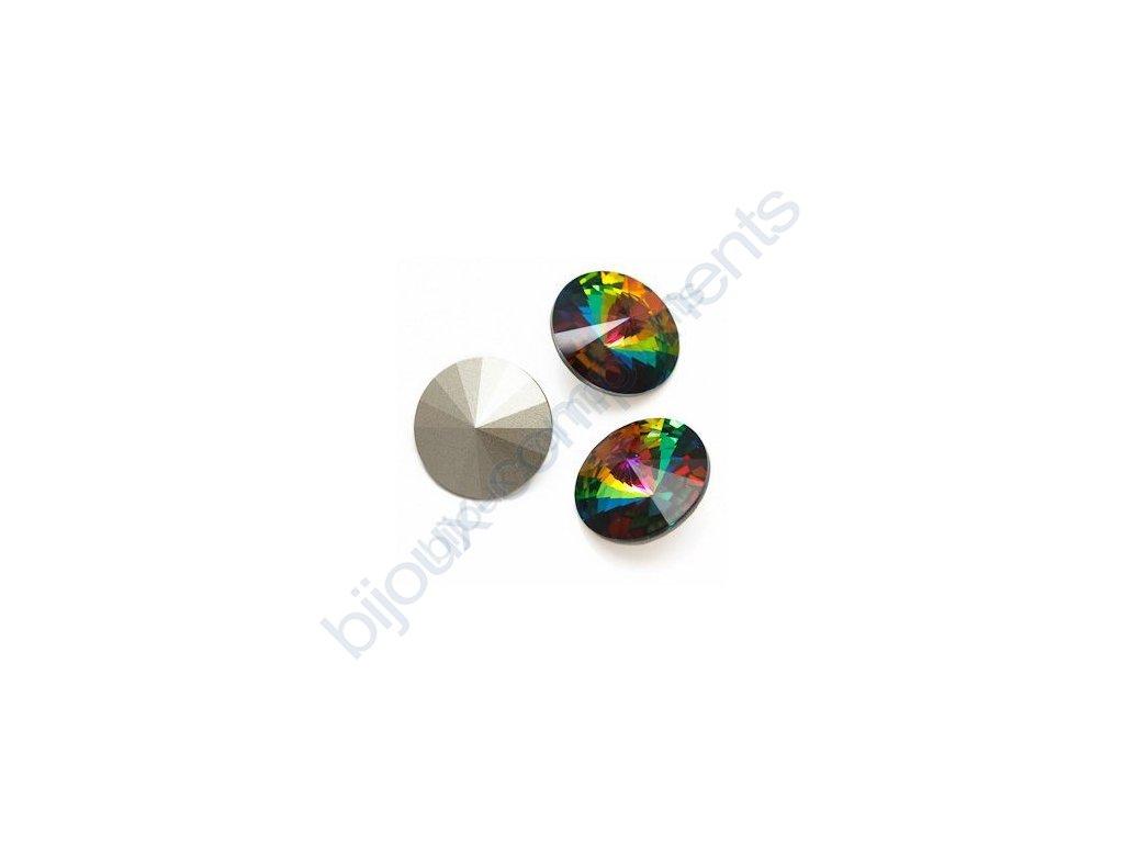 SWAROVSKI ELEMENTS kameny - Rivoli Chaton, crystal vitrail medium F, SS39 (cca 8mm)