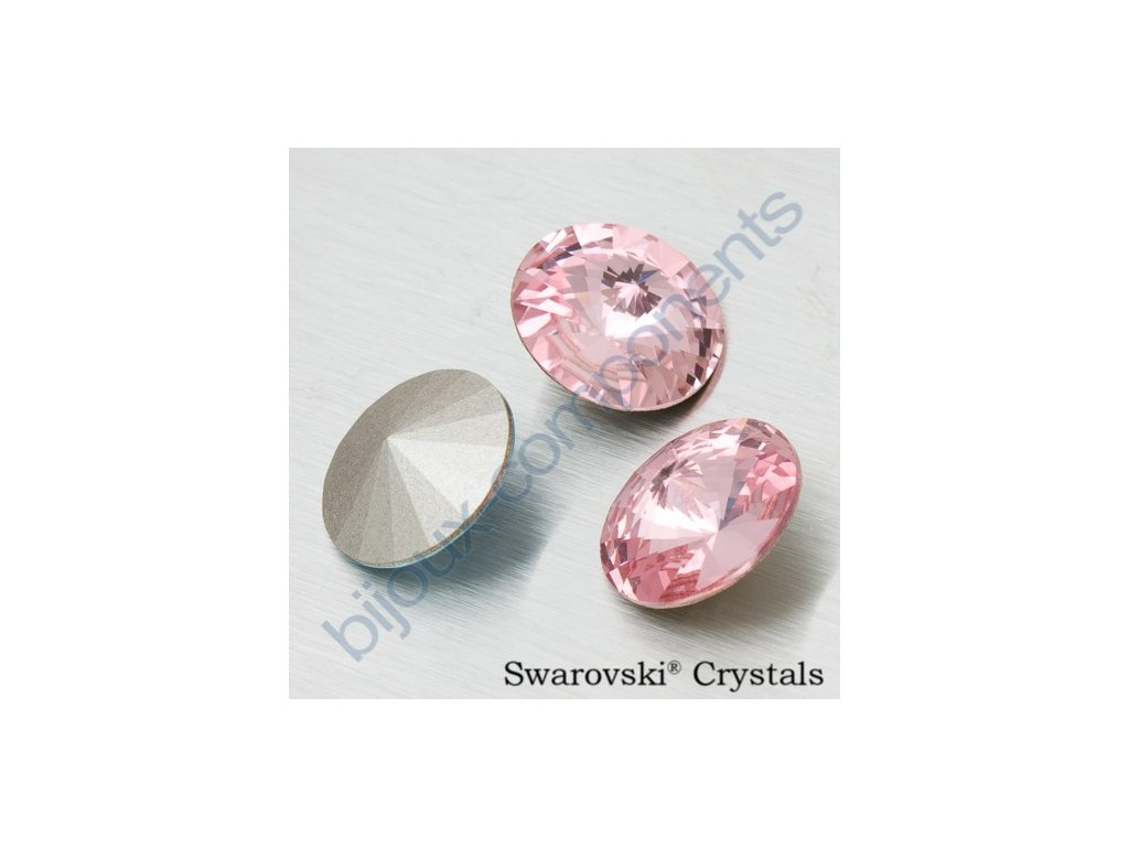 SWAROVSKI ELEMENTS kameny - Rivoli Chaton, light rose F, SS39 (cca 8mm)