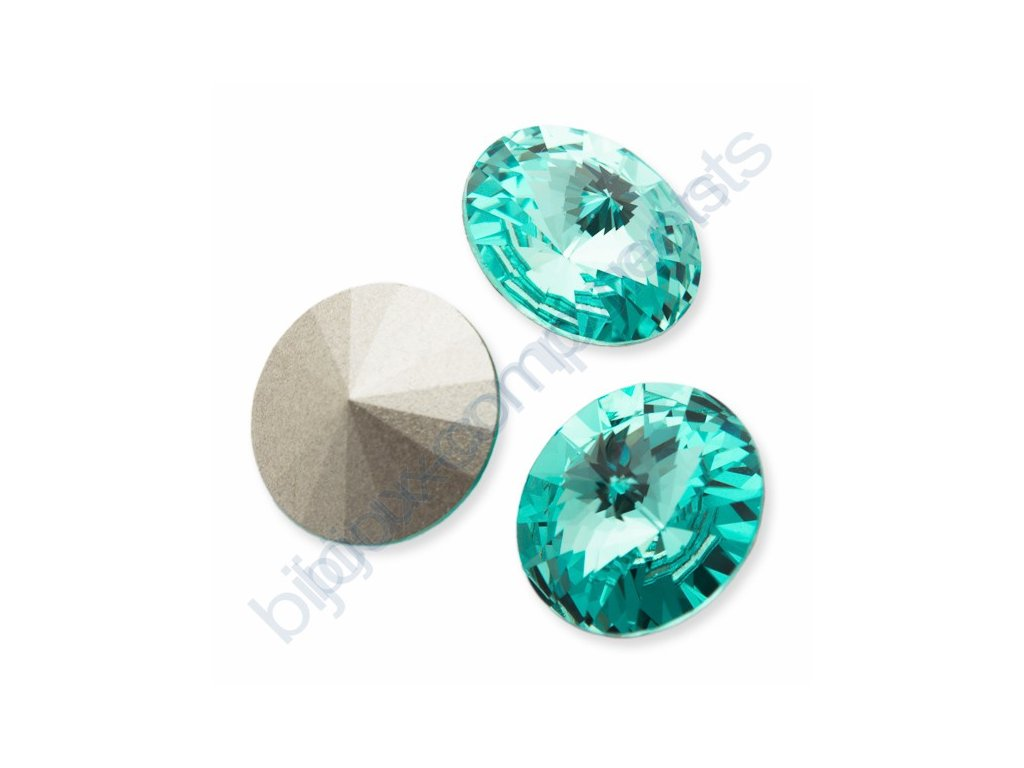 SWAROVSKI ELEMENTS kameny - Rivoli Chaton, light turquoise F, SS39 (cca 8mm)