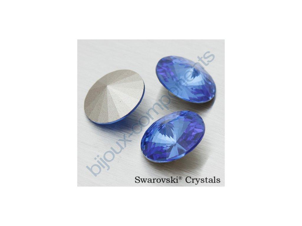 SWAROVSKI ELEMENTS kameny - Rivoli Chaton, sapphire F, SS39 (cca 8mm)