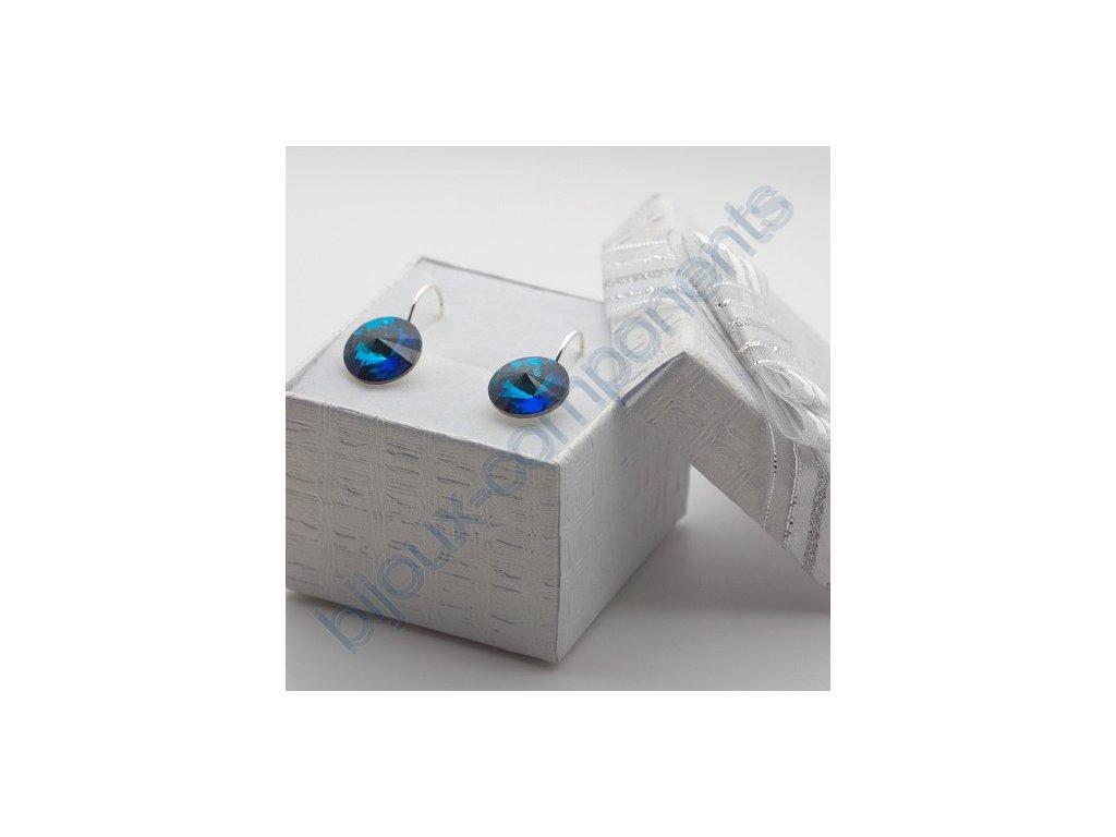 Dárková sada s kameny Swarovski crystals, rivoli 1122, crystal bermuda blue / postříbřené komponenty