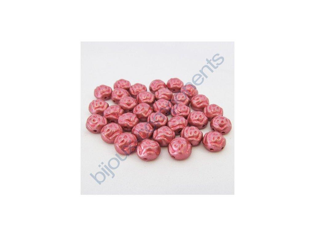 Dvoudírkové kabošony PRECIOSA Candy Rose™ - metalická červená
