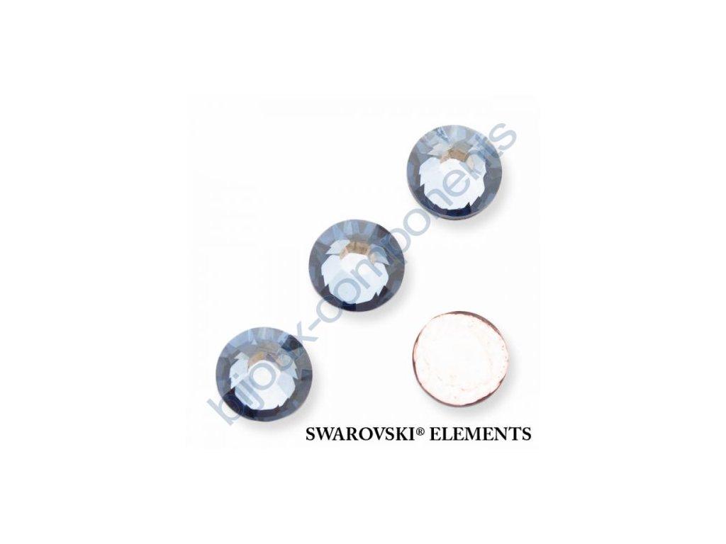 SWAROVSKI ELEMENTS šatonová růže - nažehlovací (s vrstvou lepidla), crystal blue shade, SS16