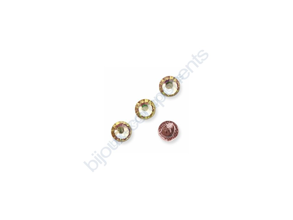 SWAROVSKI ELEMENTS šatonová růže - nažehlovací (s vrstvou lepidla), crystal AB, SS16