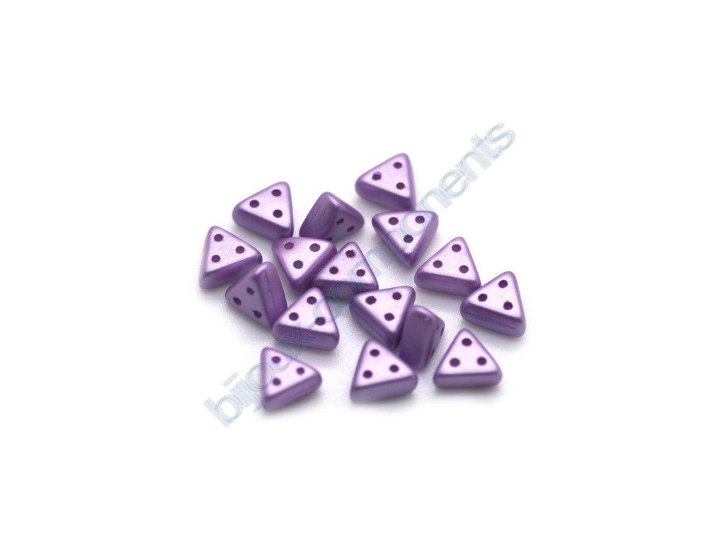 Skleněné korálky eMMA, fialové, 3x6mm, 5g