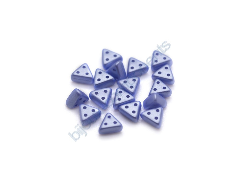 Skleněné korálky eMMA, světle modré, 3x6mm, 5g
