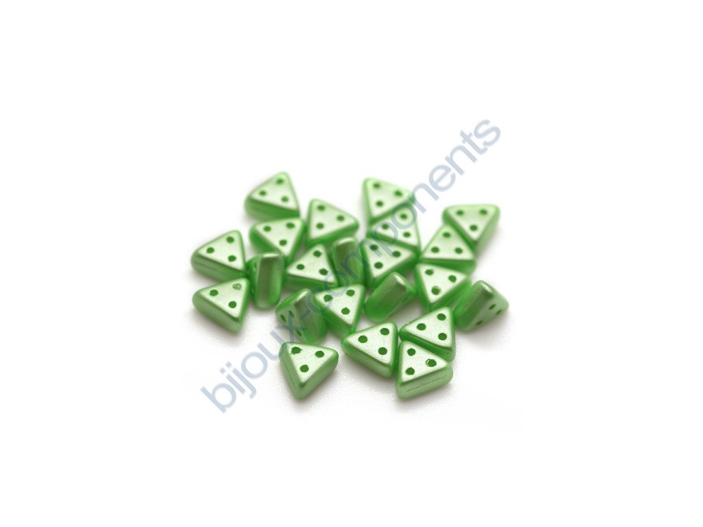 Skleněné korálky eMMA, světle zelené, 3x6mm, 5g