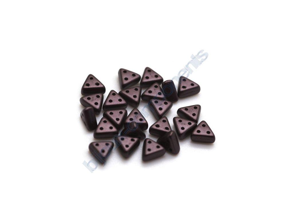 Skleněné korálky eMMA, hnědé, 3x6mm, 5g
