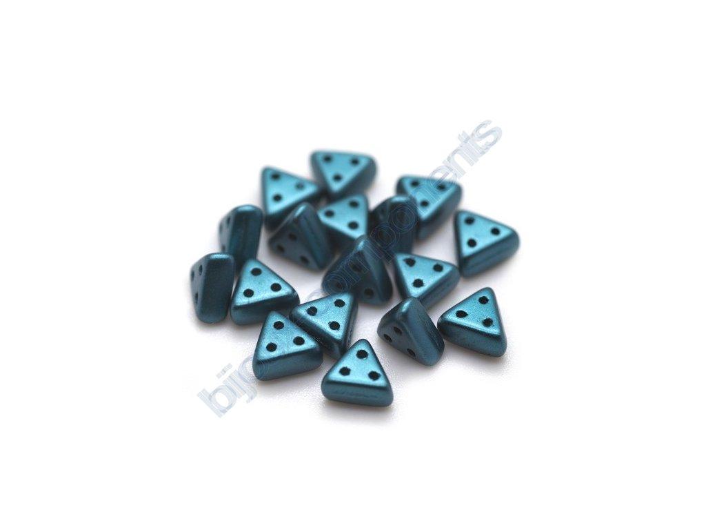 Skleněné korálky eMMA, blue zircon, 3x6mm, 5g