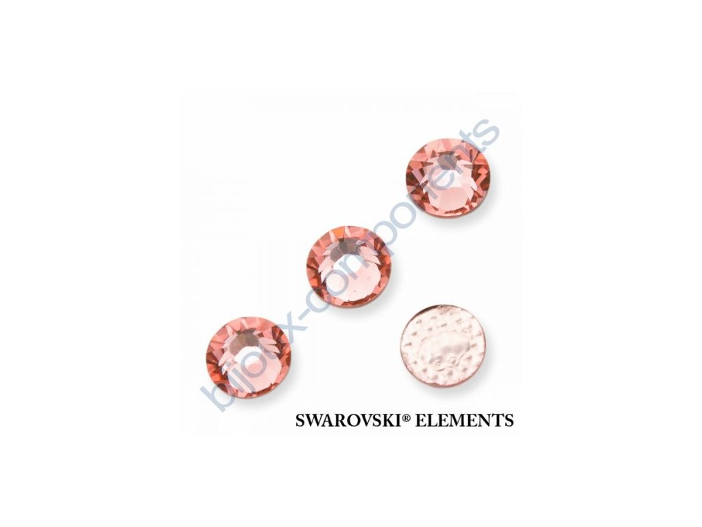 SWAROVSKI ELEMENTS šatonová růže - nažehlovací (s vrstvou lepidla), rose peach, SS20