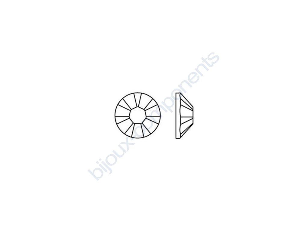 SWAROVSKI CRYSTALS šatonová růže - nažehlovací (s vrstvou lepidla), amethyst, SS20