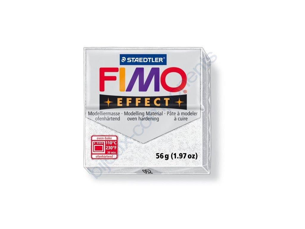Fimo Efect cca 56g, metalická bílá