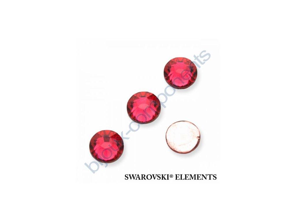 SWAROVSKI ELEMENTS šatonová růže - nažehlovací (s vrstvou lepidla), indian pink, SS20