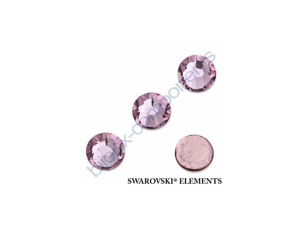 SWAROVSKI ELEMENTS šatonová růže - nažehlovací (s vrstvou lepidla), light amethyst, SS20