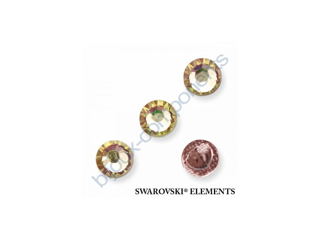 SWAROVSKI CRYSTALS šatonová růže - nažehlovací (s vrstvou lepidla), crystal lumin green, SS20
