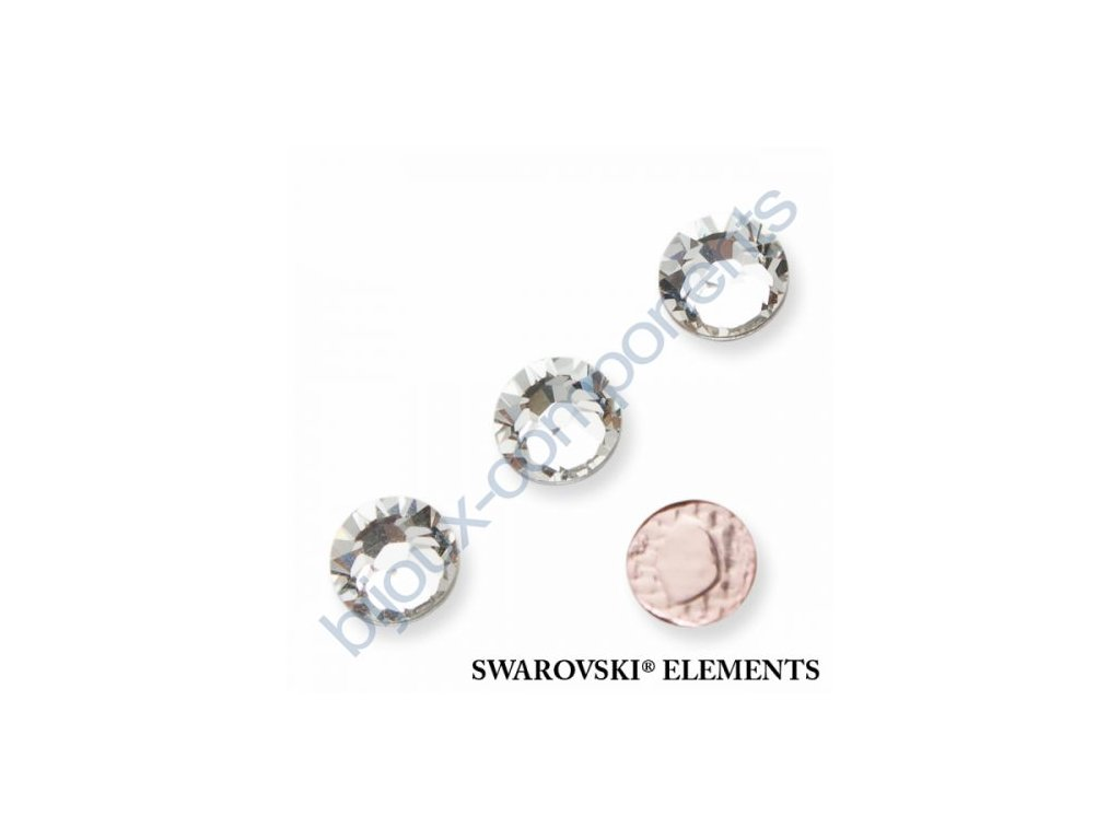 SWAROVSKI ELEMENTS šatonová růže - nažehlovací (s vrstvou lepidla), crystal, SS16