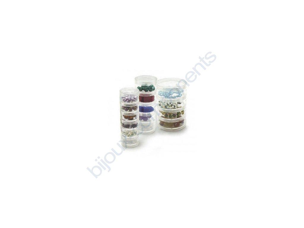 4 šroubovací plastových dóz Beadalon