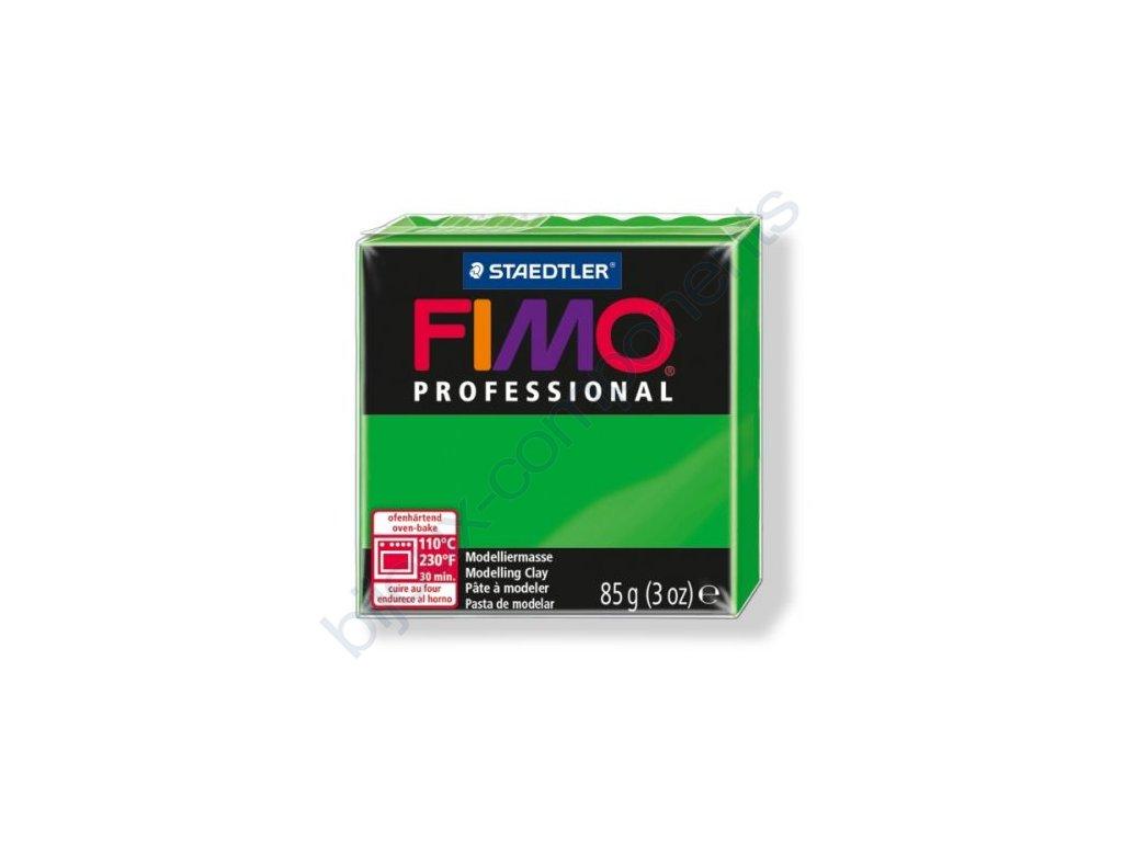 FIMO Professional, cca 85g, trávově zelená