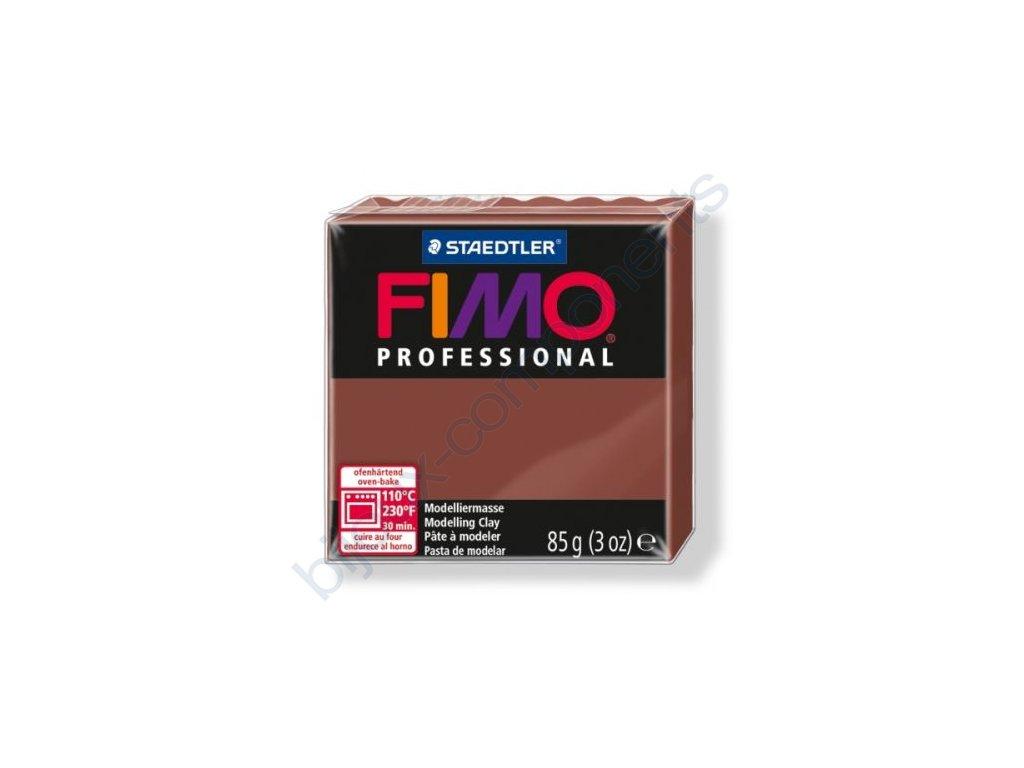 FIMO Professional, cca 85g, čokoládová