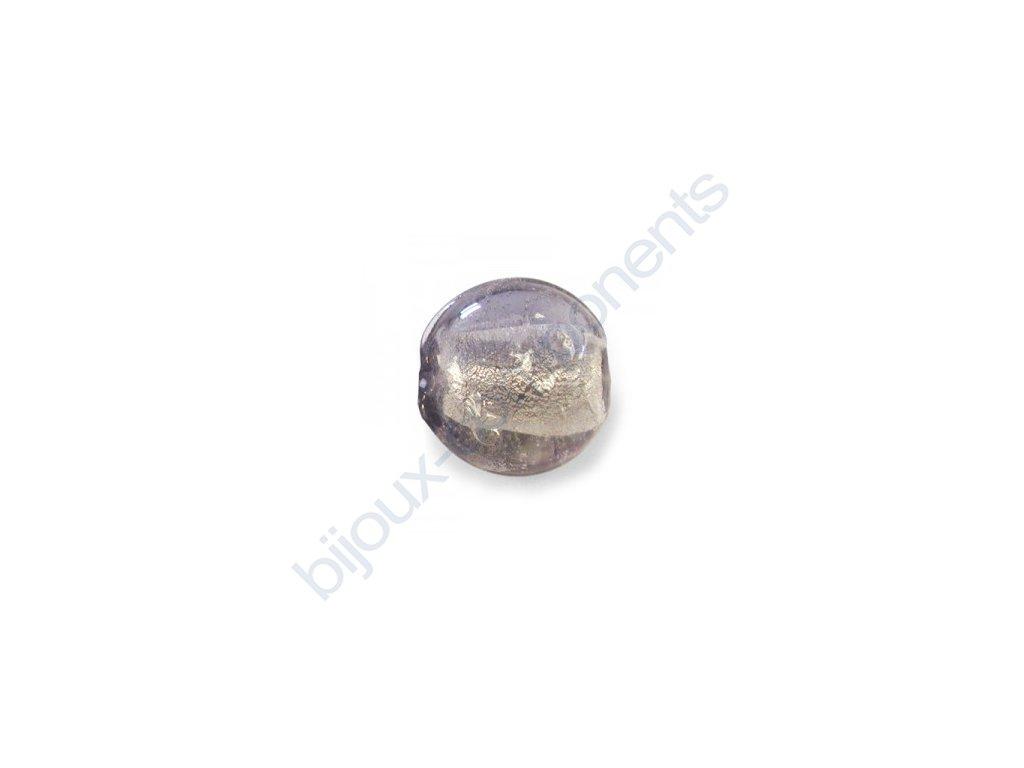 Skleněné korálky šedé (black diamond)