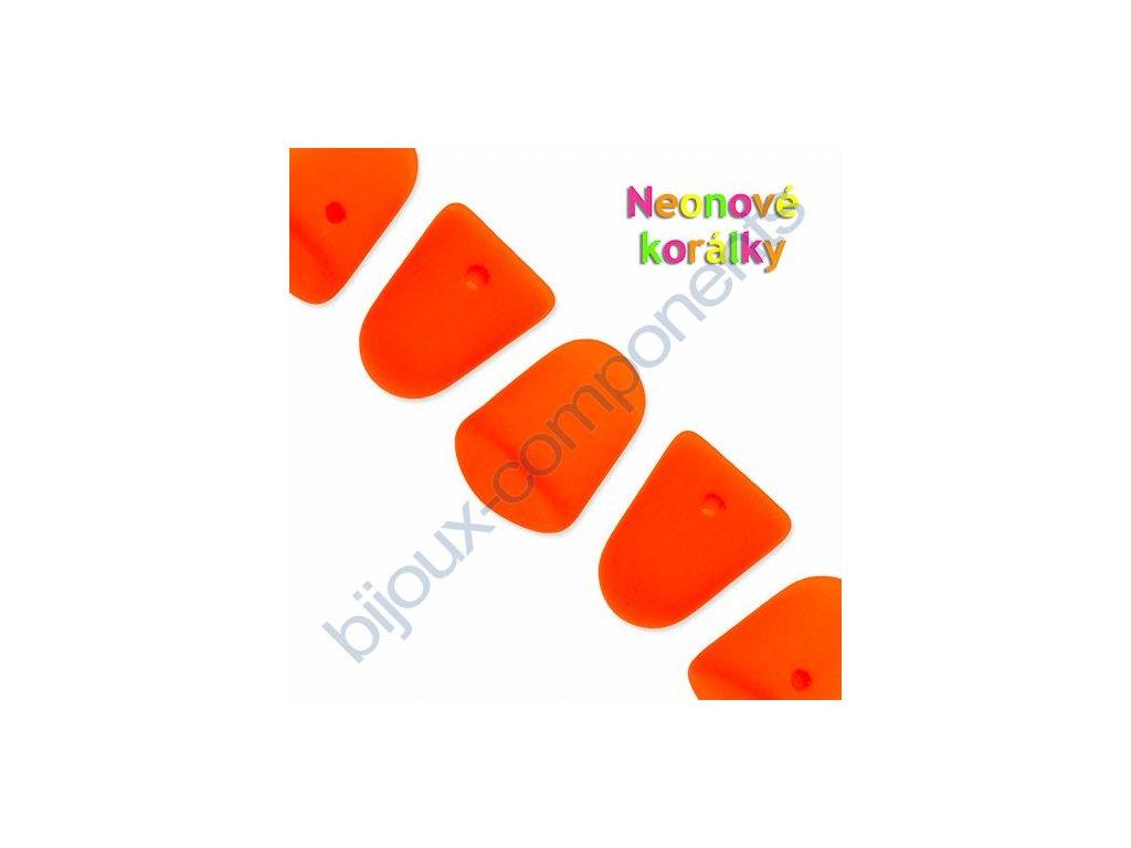 Neonové korálky s UV efektem, bonbóny - gumdrops, oranžové