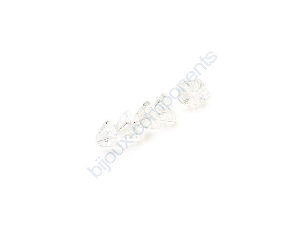 Skleněné korálky mačkané - kytičky, zvonečky, krystalové