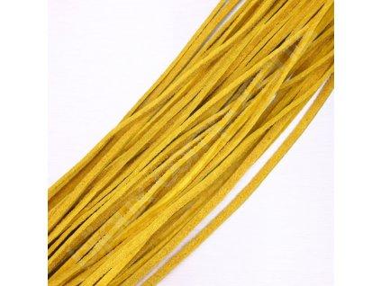 Kůže - plochá, cca 2mm/cca 60cm - gold