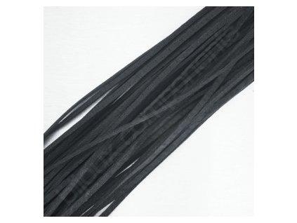 Kůže - plochá, cca 2mm/cca 100-110cm- černá