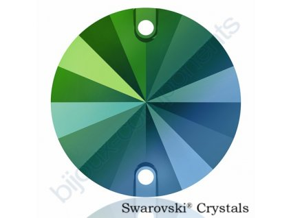 SWAROVSKI ELEMENTS Rivoli našívací kámen, crystal scarabeus green F, 12mm