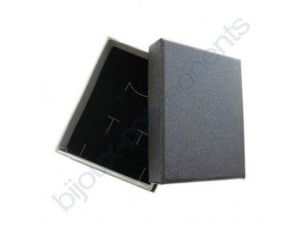 Krabička na šperky - tmavě šedá, 60x75x30mm