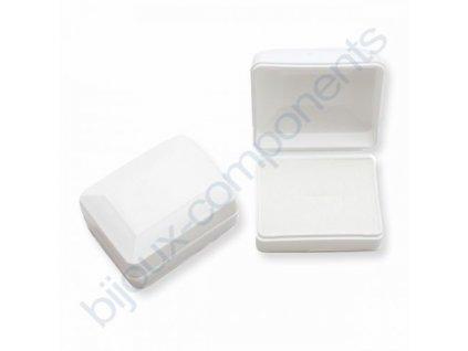 Krabička na šperky - Plastová, bílá, 58x44x26mm