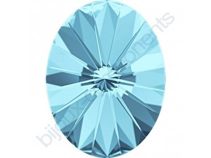 SWAROVSKI CRYSTALS kameny - Oval Rivoli Fancy Stone, aquamarine F, 14x10,5mm